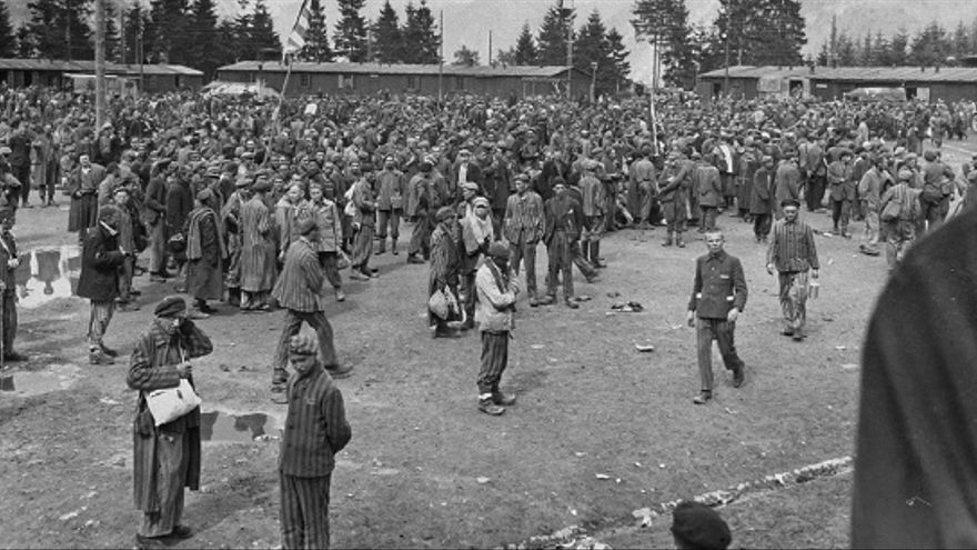 Liberación del campo de Ebensee, en Austria, el 7 de mayo de 1945.