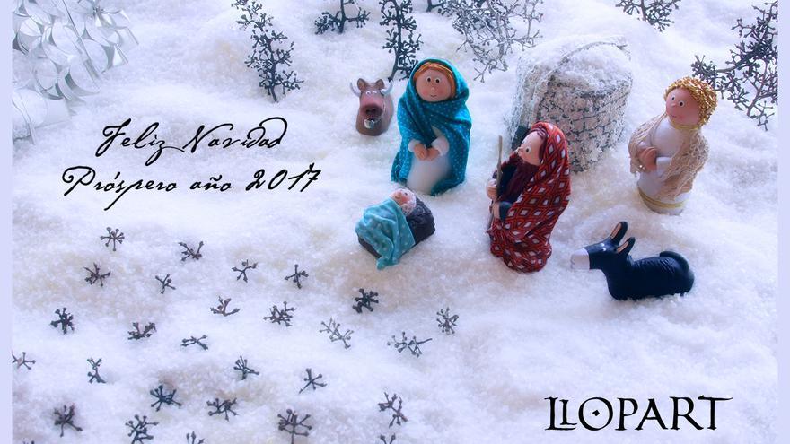 Otra postal de Navidad de Llopart.