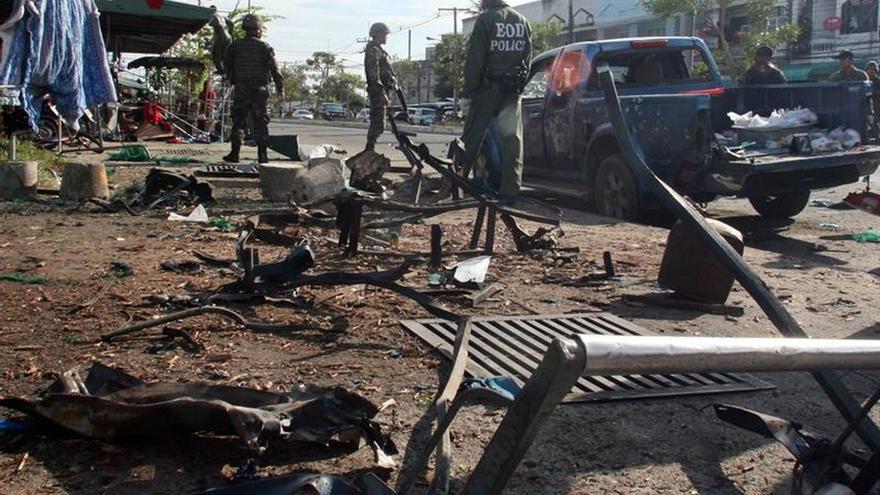 Seis soldados muertos al detonar una bomba en el sur de Tailandia