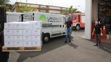 Lanzarote fabrica más de 500 litros de hidrogel desinfectante