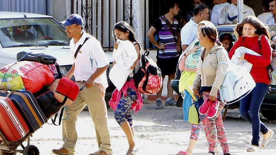 venezolanos en chile huyen