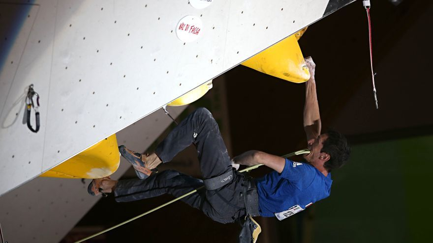 Romain Desgranges en la final de Campitello di Fassa (© newspower.it).