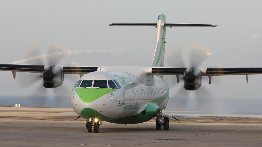 Avión turbohélice de la compañía canaria Binter