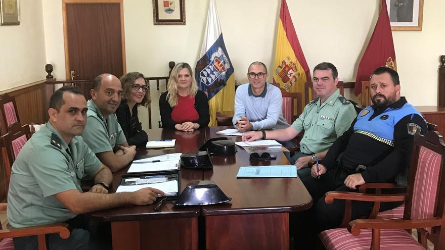 Reunión de la Junta Local de Seguridad en Mazo.