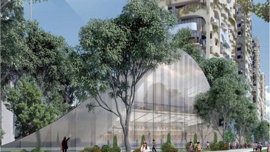 Imagen del proyecto de construcción del barrio Senakw.