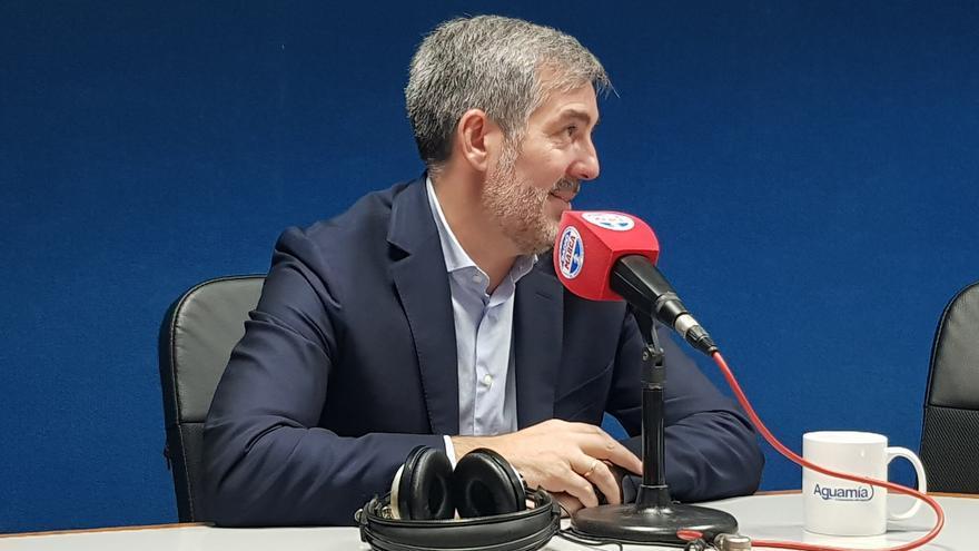 Fernando Clavijo, en la entrevista en Radio Marca.