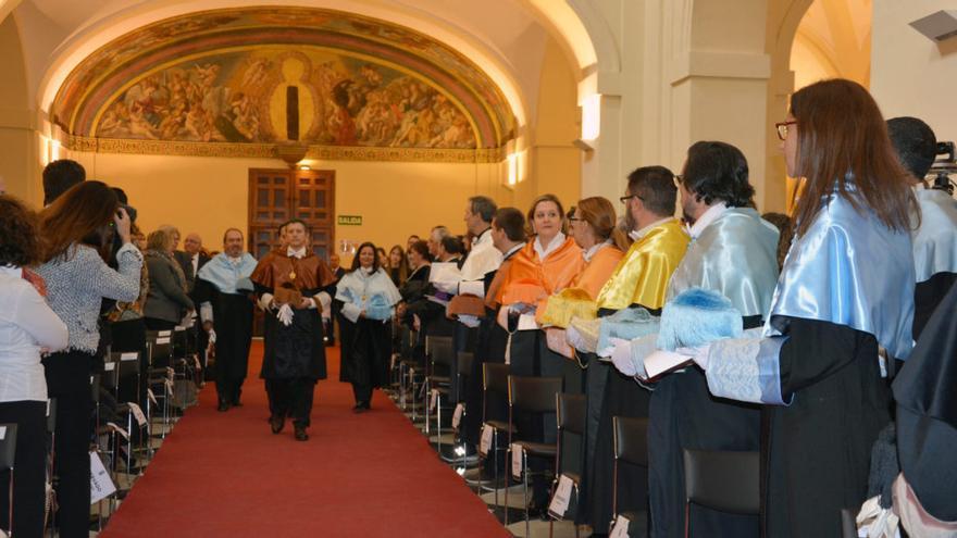 Imagen del acto de reconocimiento de Gregorio Marañón como doctor 'honoris causa' / UCLM