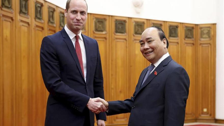 El príncipe Guillermo en Hanoi para una conferencia sobre el contrabando animal