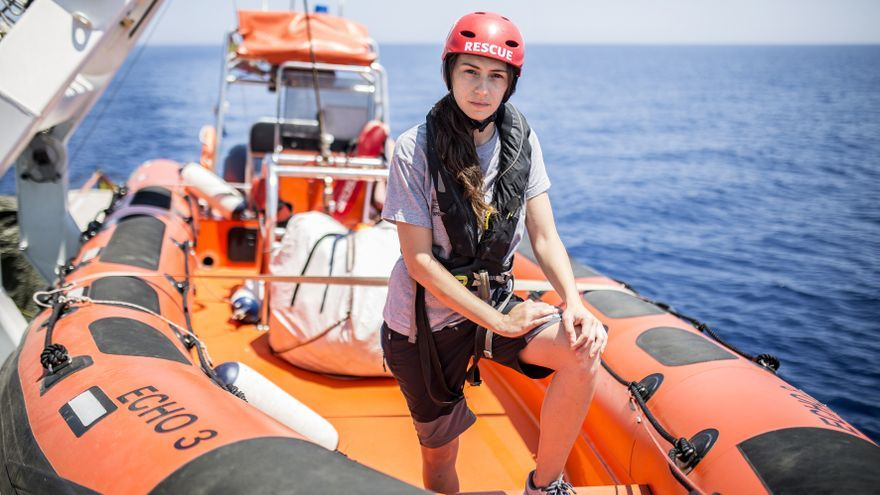 Esther Camps, socorrista y patrona de lancha rápida de Open Arms.