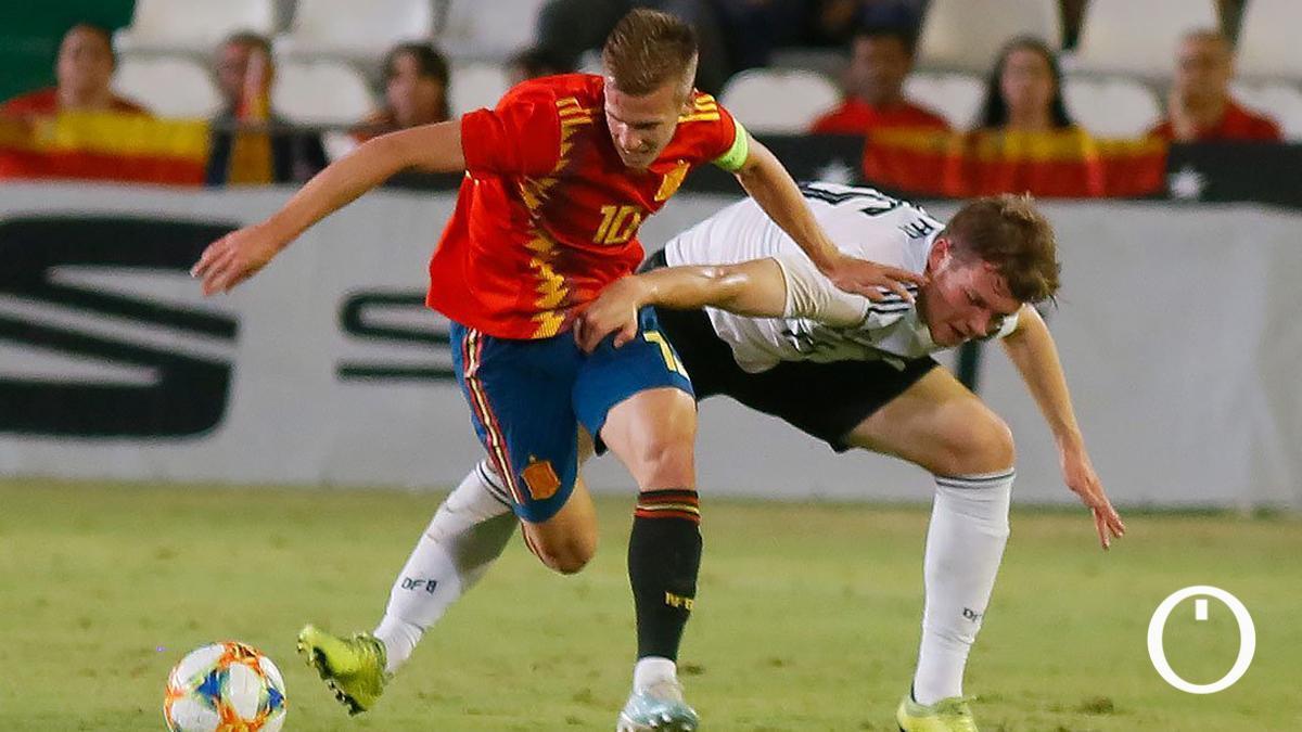 Lance del último partido de España sub 21 en El Arcángel.