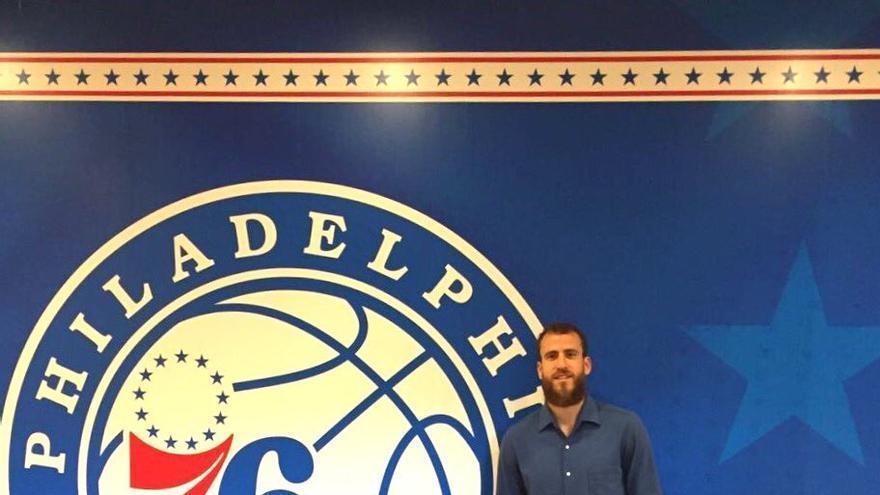 Sergio Rodríguez tras firmar con los Philadelphia 76ers