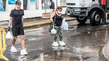 FOTOGALERÍA   Efectos del intenso chaparrón que ha caído este sábado en Lanzarote
