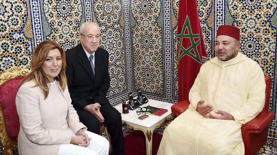 Mohammed VI traslada a Díaz su interés por potenciar la cooperación económica entre Marruecos y Andalucía