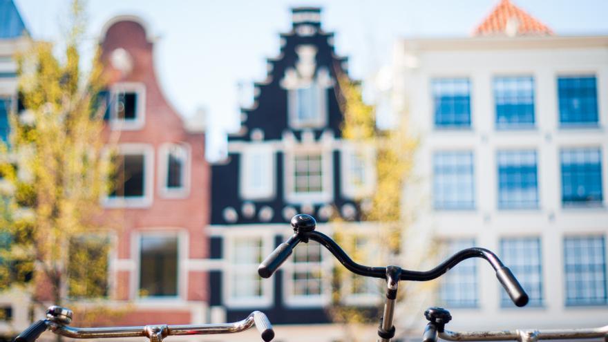 Las bicis y las casas típicas de Holanda