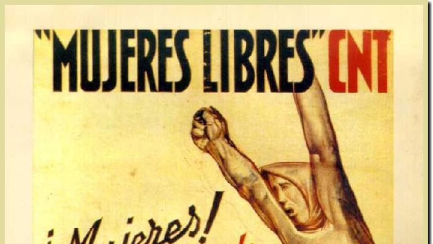 Cartel de Mujeres Libres atribuido a Baltasar Lobo.