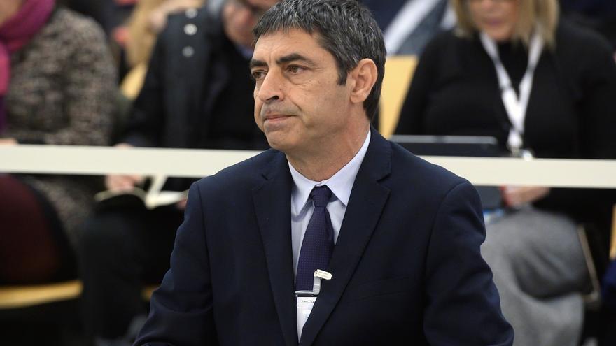 El exmajor de los Mossos Josep Lluis Trapero, durante el juicio en la Audiencia Nacional contra la cúpula del procés