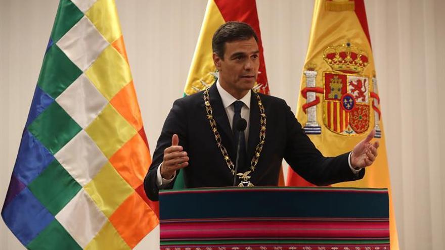Pedro Sánchez de visita oficial en Bolivia