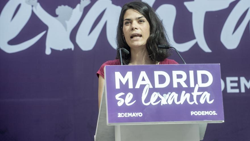 Isabel Serra, en un acto de Podemos el pasado 2 de mayo en Madrid.