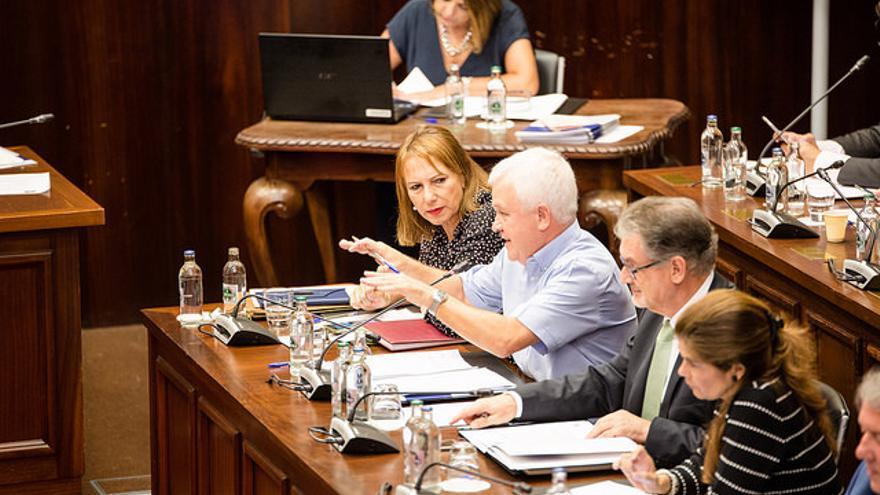 Pleno del Cabildo de Gran Canaria celebrado este jueves.