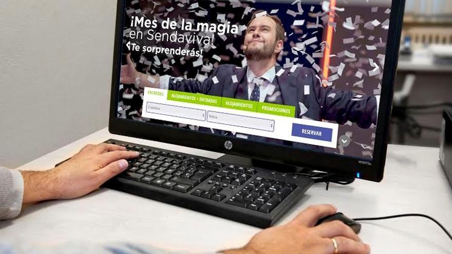 Imagen de la nueva web de Sendaviva.
