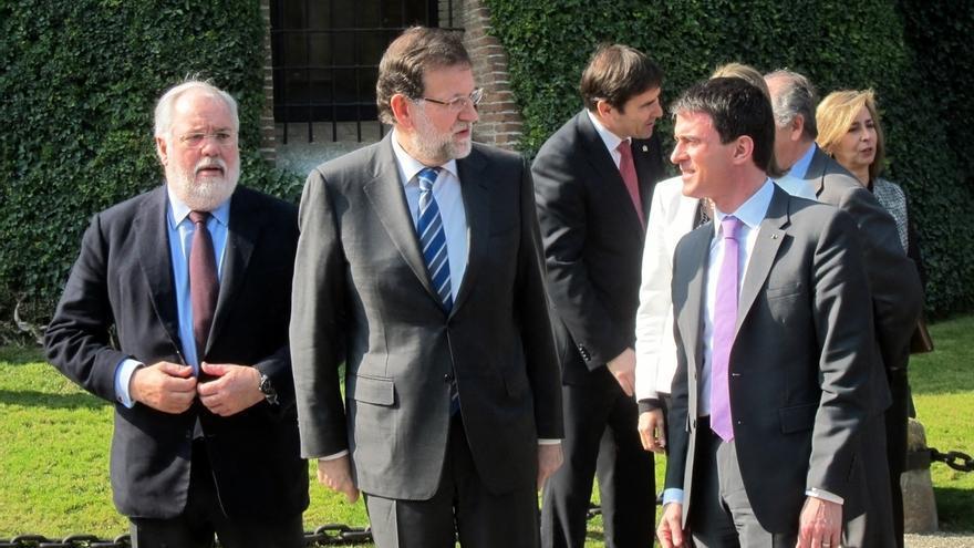 Mariano Rajoy y Manuel Valls presiden en Peralada (Girona) una reunión de trabajo