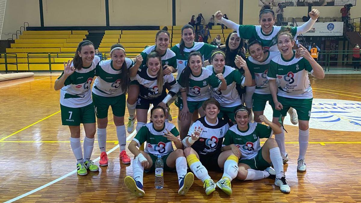 Celebración del triunfo del Deportivo Córdoba.