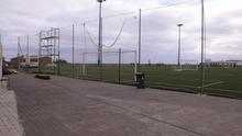 El OAD Laguna renueva el vallado del campo de fútbol Gregorio Dorta de Valle Guerra
