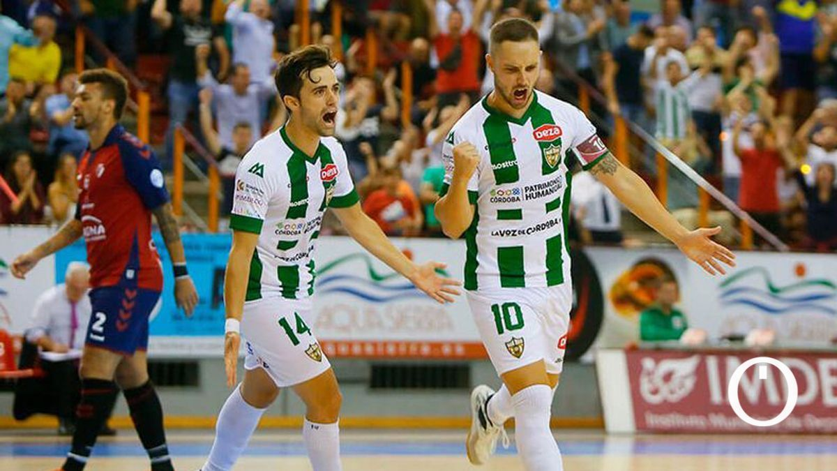 Manu Leal, tras marcar el primer gol del Córdoba Patrimonio en Primera