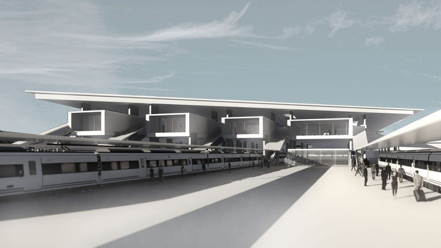 Imagen de la futura estación de viajeros de Irun (Gipuzkoa)