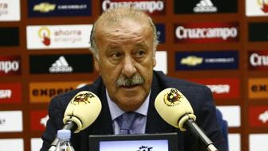 Vicente Del Bosque, en rueda de prensa
