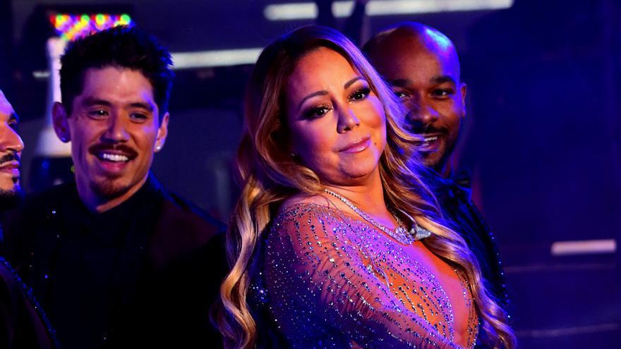 Mariah Carey, en un momento de su actuación de Nochevieja para ABC