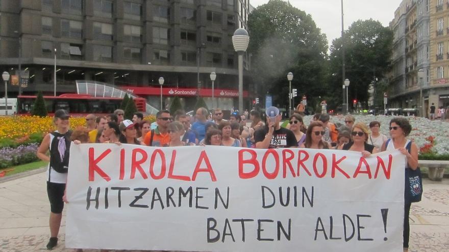 Trabajadores polideportivos Bizkaia no harán más movilizaciones hasta la reunión prevista con Cebek el 24 de septiembre