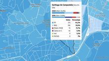 MAPA | Cómo ha votado Galicia el 12J, calle a calle