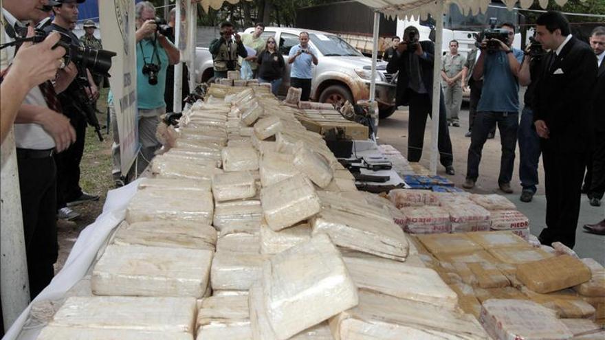 Brasil decomisa 360 toneladas de drogas en un año y medio de su plan de fronteras