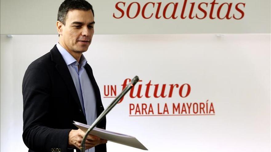 Pedro Sánchez, secretario general del PSOE y candidato a la Presidencia