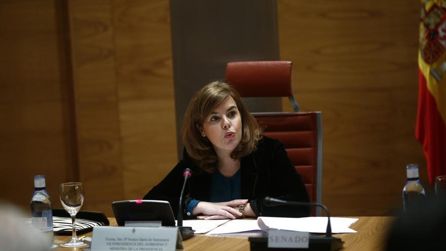 Santamaría se reúne en el Senado con los consejeros de CCAA del PP antes del encuentro oficial de este miércoles