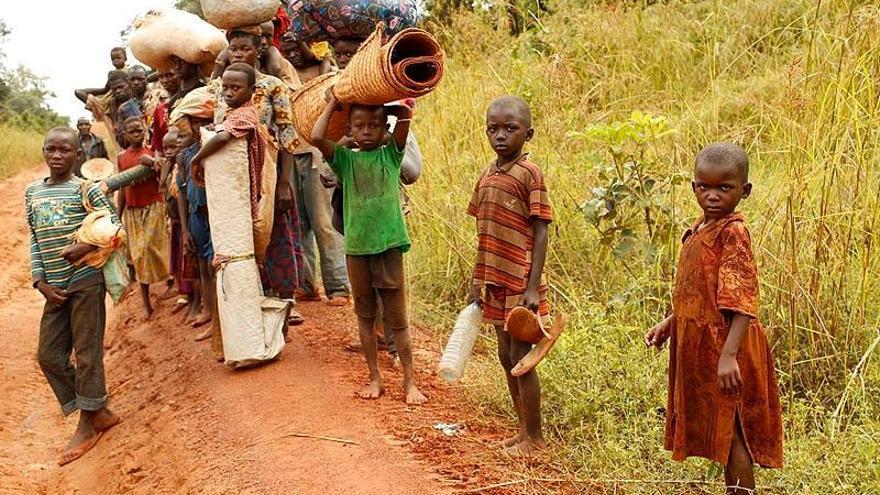 Familias desplazadas en República Centroafricana./ Joanne Mariner (Amnistía Internacional).