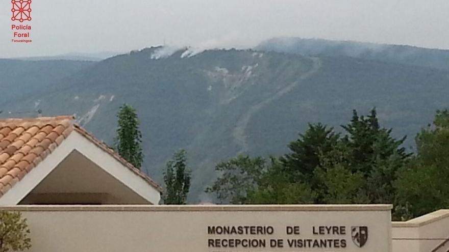 Controlado un incendio en la zona de Yesa, que ha afectado mayoritariamente a territorio aragonés