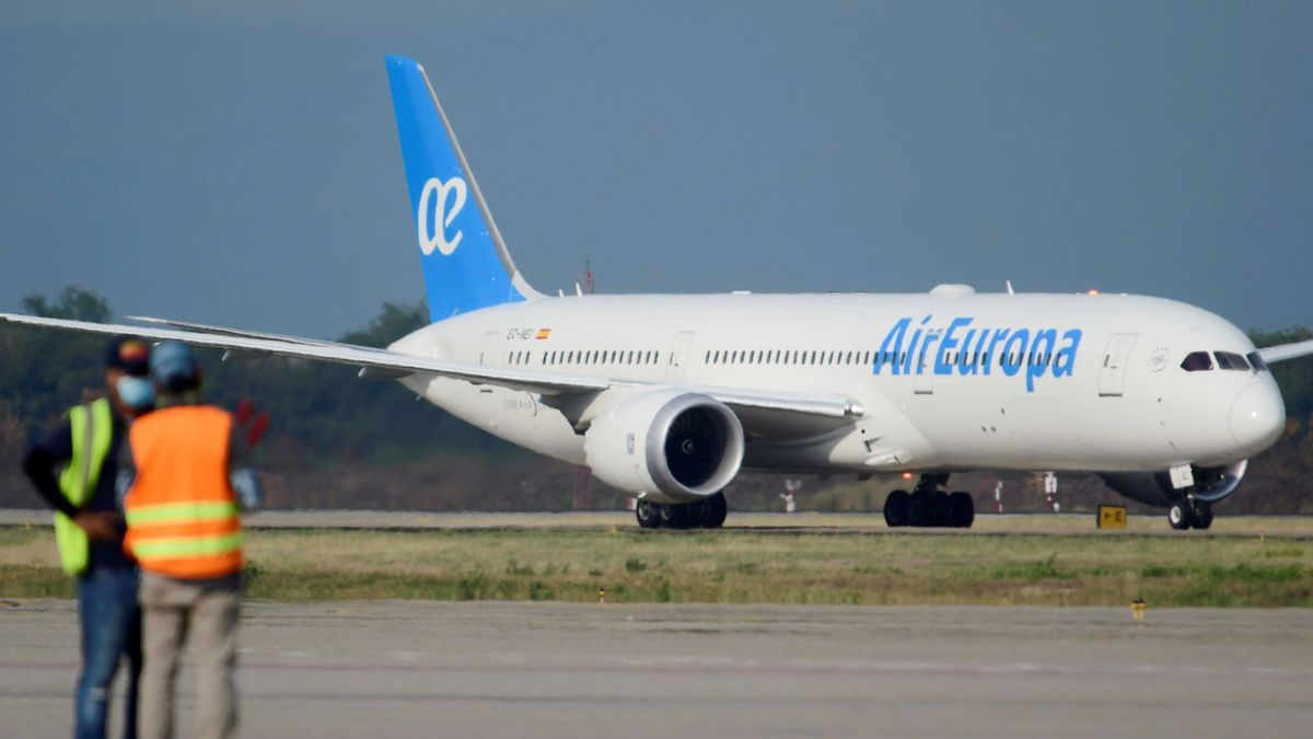 Un avión de Air Europa, en una fotografía de archivo.