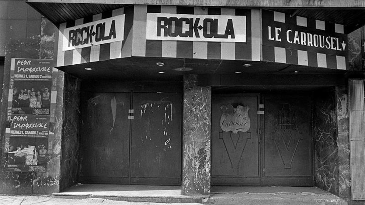 Entrada de la el mítica sala Rock-Ola.