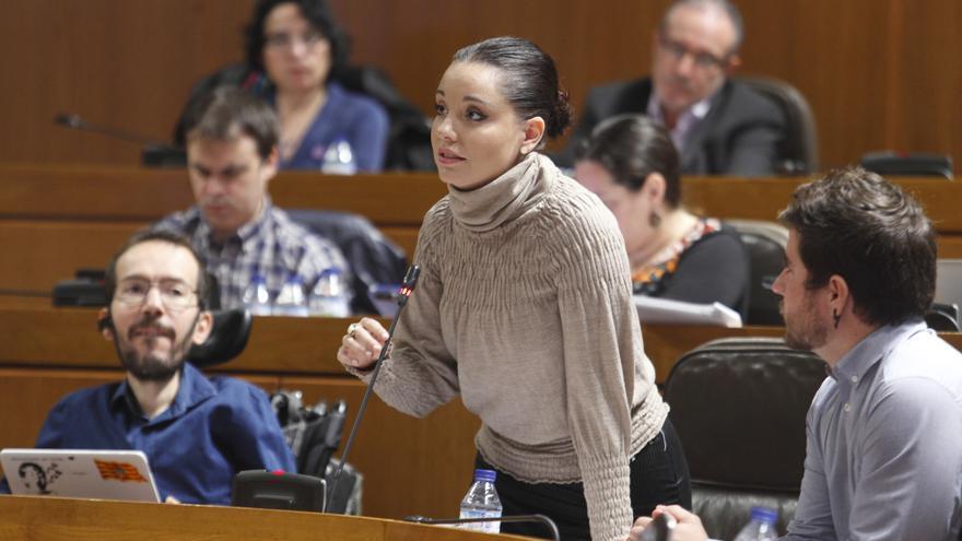 La portavoz de Podemos, Maru Díaz.