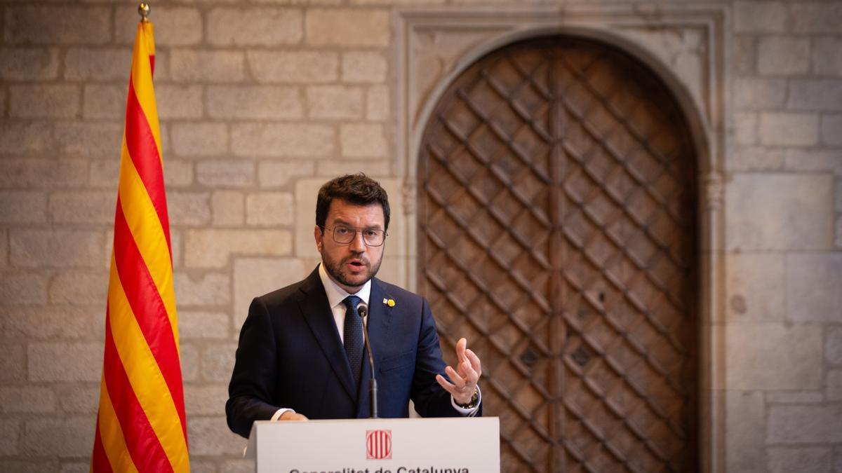 El presidente de la Generalitat, Pere Aragonès. ARCHIVO.