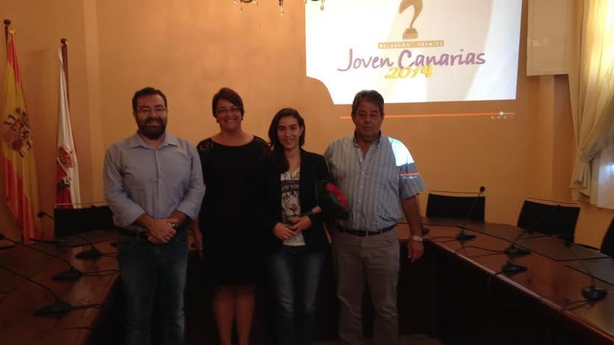 De izquierda a derecha, Ángel Alonso de Paz, Mayte Rodríguez, Johanna Capote Robayna y Blas Bravo Pérez.