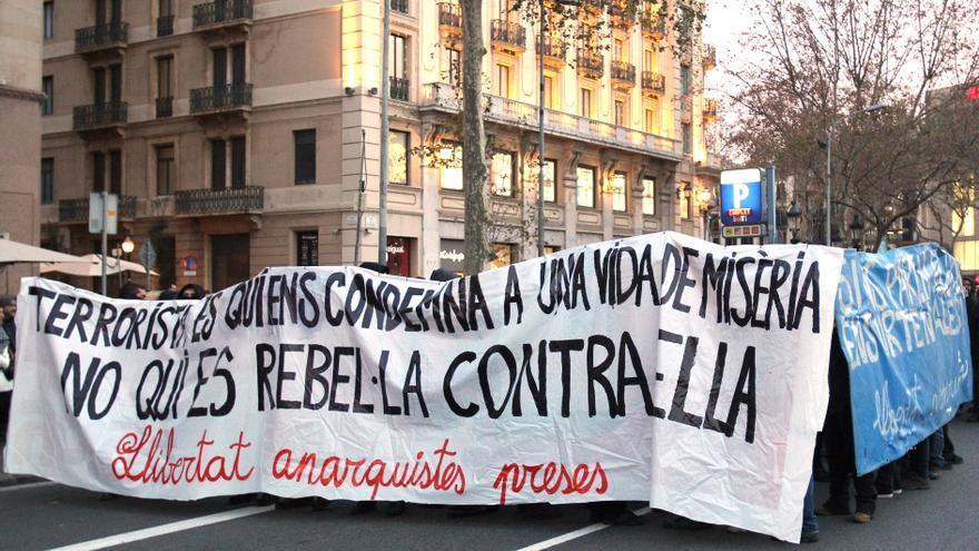 Manifestación en 2014 contra las detenciones de la Operación Pandora.