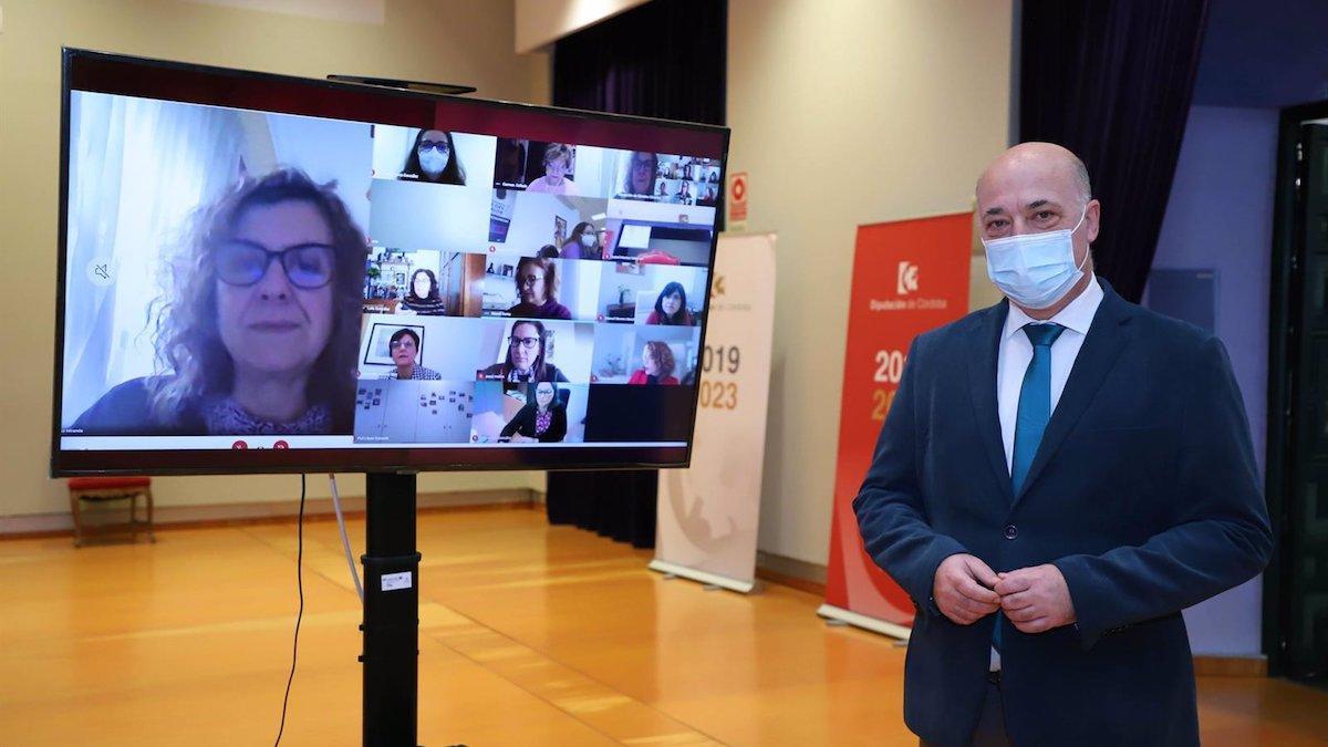 Antonio Ruiz ha asistido a la reunión telemátia de las diputaciones andaluzas por el 8 de Marzo.