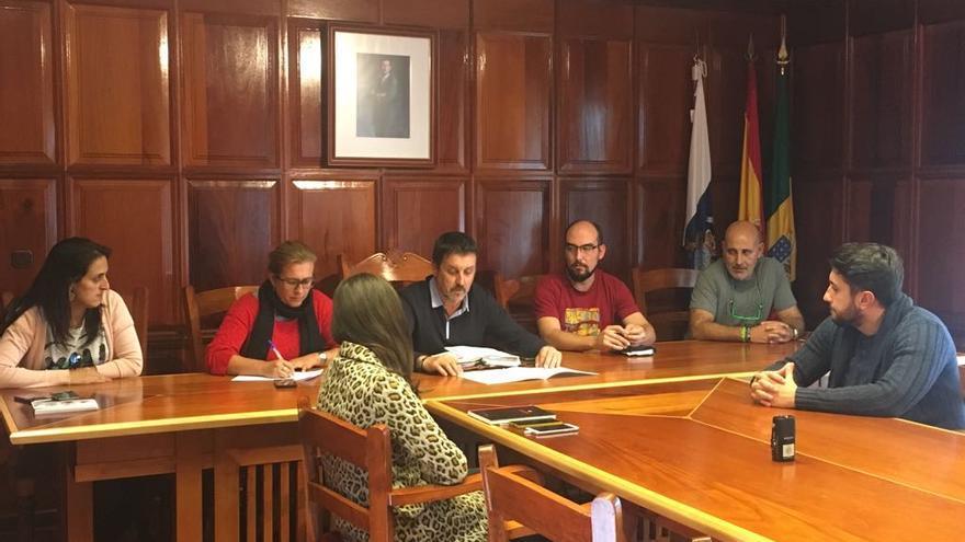 Sesión plenaria celebrada este jueves en Garafía.