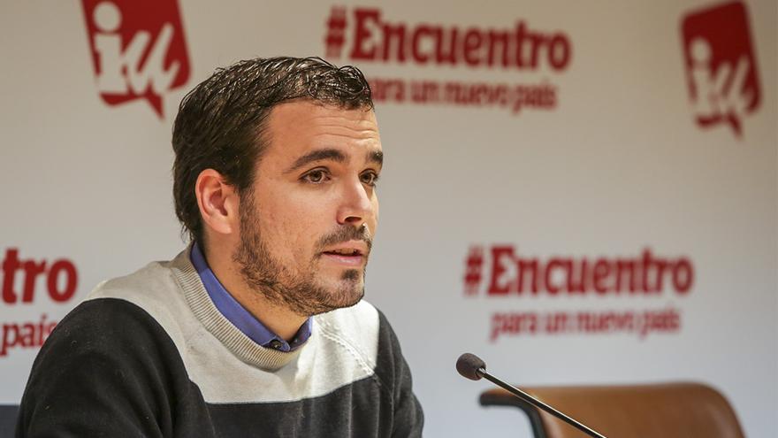 Alberto Garzón fue el encargado de abrir el encuentro programático / José Camó