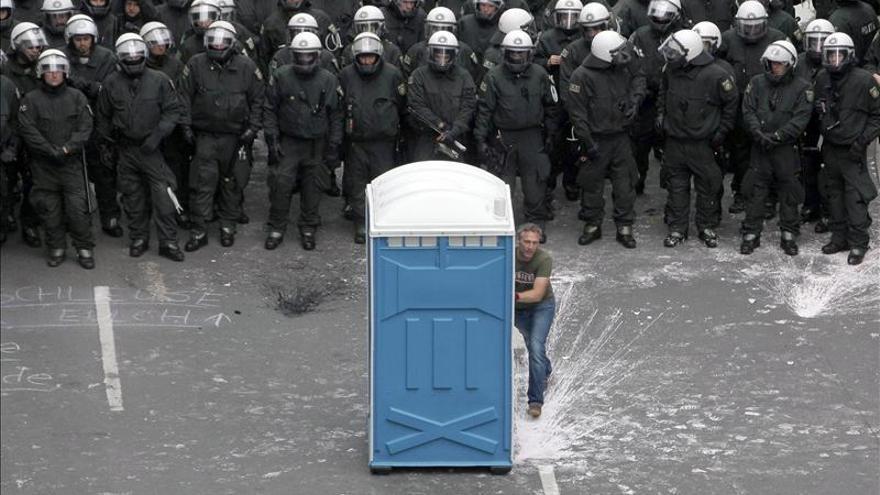 Las protestas anticapitalistas de Fráncfort concluyen con altercados