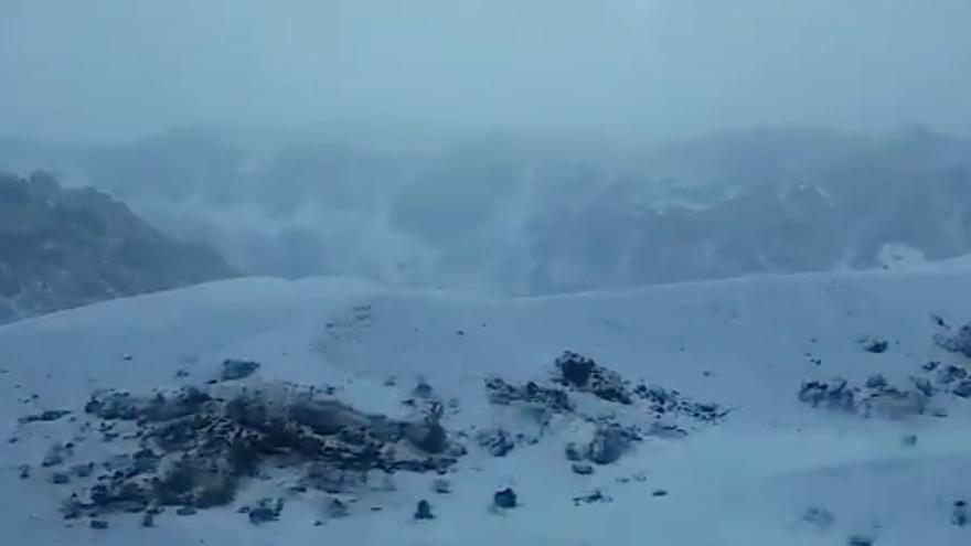Imagen del Parque Nacional del Teide, esta mañana