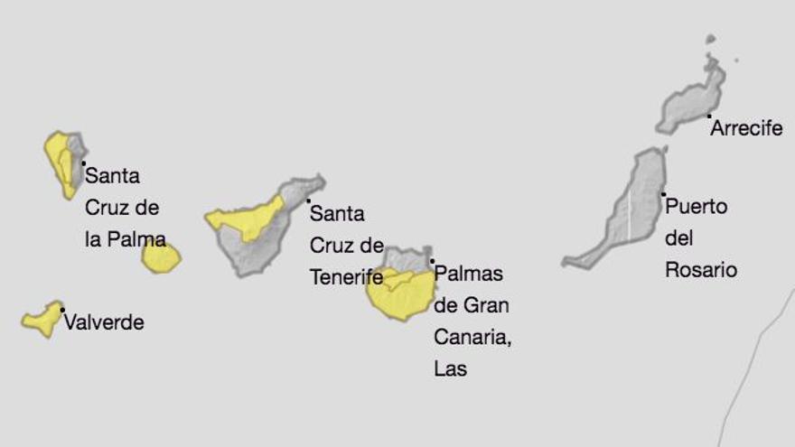 La Aemet amplía el aviso de riesgo por fuente viento en La Palma